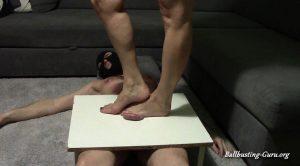 Huge bare feet on cockboard – Cruelty of goddess Anita