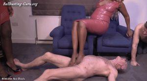 Mistress Ava Black, Mistress Lorraine – Pummelled by our feet – Full clip