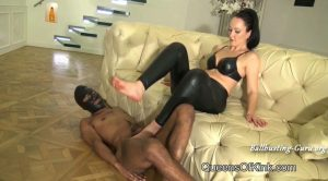 QUEENS OF KINK – Smashed Balls under My Bare Feet – Fetish Liza