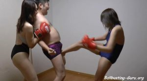 Fighting girl Made in Japan – Ballbusting by Japanese girls and shemale mistress