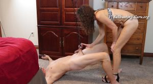 Soccer Mom Mistress – Hoist Hung By Nut Stretcher and Ball-Busted!