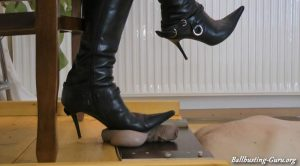 Boot Heel Worship Cbt Humiliation – UnderMyBootSoles (HD) – Lady Janet